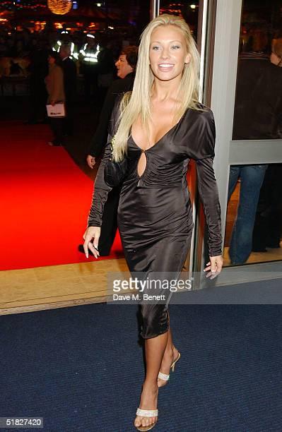 Natalie Denning arrives at the UK film premiere of National Treasure at Odeon West End on December 5 2004 in London
