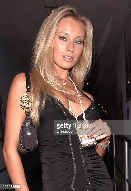 Natalie Denning during 22nd Miss Hawaiian Tropic International Pageant Party Inside at The Collection in London Great Britain