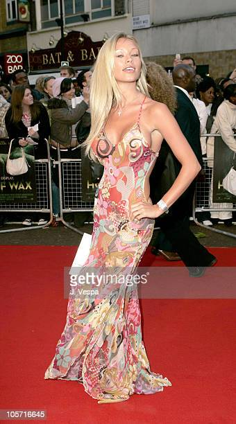 Natalie Denning during House of Wax London Premiere Red Carpet at Leicester Square in London Great Britain