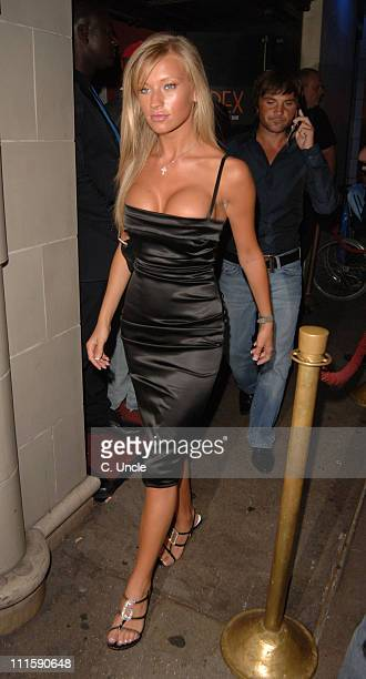 Natalie Denning during The Business VIP Screening Departures at Rex Cinema and Bar in London Great Britain