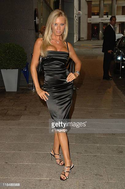 Natalie Denning during The London Club and Bar Awards 2005 at Riverbank Park Plaza Hotel in London Great Britain
