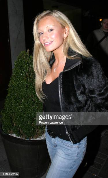 Natalie Denning during Will Mellor's Birthday Party at The Embassy Club March 27 2005 at The Embassy Club in London Great Britain