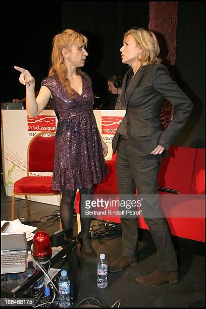 Natalie Dessay and Claire Chazal at Radio Classique Celebrates The Elections De L' Opera 2008 At Theatre Mogador In Paris