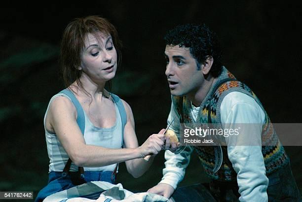 Natalie Dessay and Juan Diego Florez in the Royal Opera's production La Fille Du Regiment at the Royal Opera House