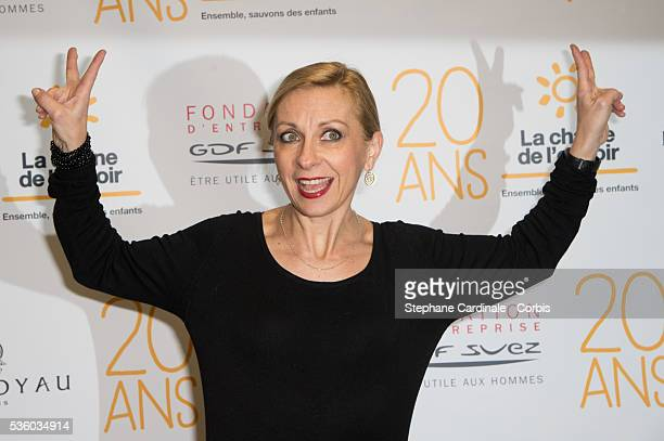 Natalie Dessay attends the 20Th Anniversary of 'Chaine de l'Espoir' on December 11 in Paris