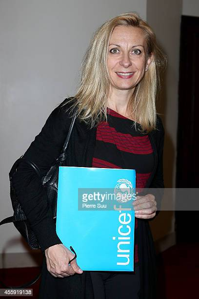 Natalie Dessay attends the 'Frimousses de Createurs 2014' Press Conference at Theatre du Chatelet on September 22 2014 in Paris France