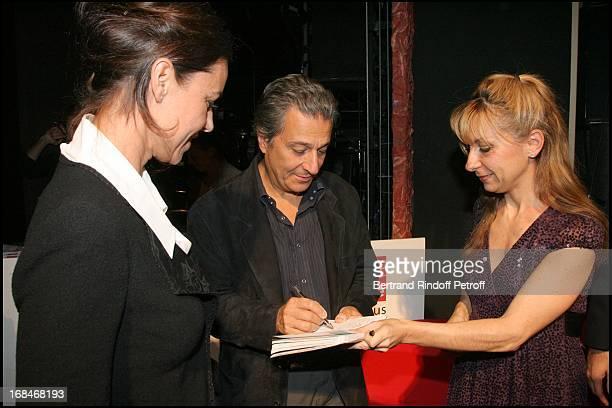 Natalie Dessay Christian Clavier and his wife at Radio Classique Celebrates The Elections De L' Opera 2008 At Theatre Mogador In Paris