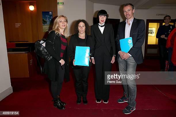 Natalie Dessay Claudine Drai Chantal Thomass and Nicolas Le Riche attend the 'Frimousses de Createurs 2014' Press Conference at Theatre du Chatelet...