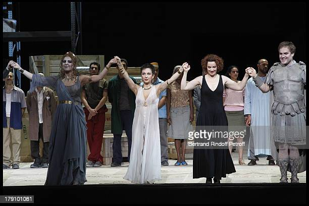 Natalie Dessay Emmanuelle Haim Lawrence Zazzo at The L'Arop Gala Evening Featuring A Performance From The Handel Opera Giulio Cesare At The Palais...