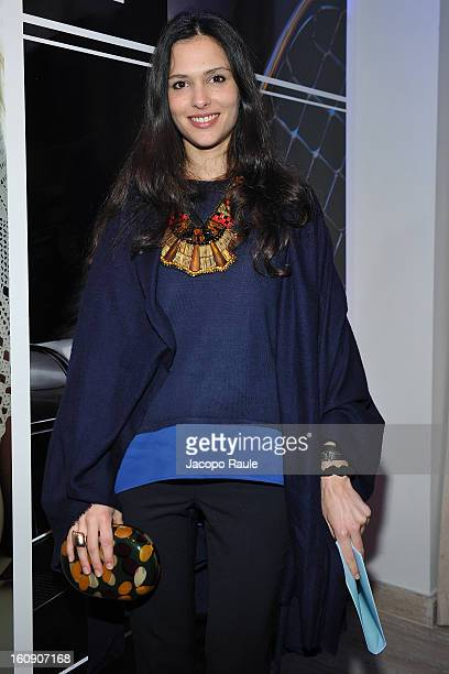 Natalie Dompe attends Maserati Quattroporte Cocktail on February 7, 2013 in Milan, Italy.