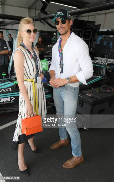 Natalie Dormer and David Gandy attend the Formula E 2018 Qatar Airways New York City EPrix the double header season finale of the 2017/18 ABB FIA...