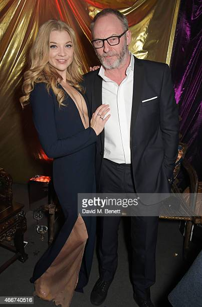 Natalie Dormer and Liam Cunningham attend the 'Game Of Thrones Season 5' UK Premiere After Party at the Tower of London on March 18 2015 in London...