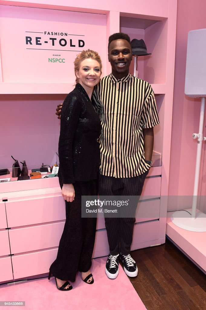 Natalie Dormer (L) and Mo Jamil attend the launch of the Fashion Re-Told pop-up in aid of the NSPCC at 196 Sloane Street on April 12, 2018 in London, England. Fashion Re-Told, in association with Harrods and Cadogan, is open until May 13th, selling designer fashion items to raise funds for the NSPCC's work across the capital.