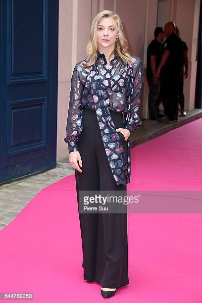 Natalie Dormer arrives at the Schiaparelli Haute Couture Fall/Winter 20162017 show as part of Paris Fashion Week on July 4 2016 in Paris France