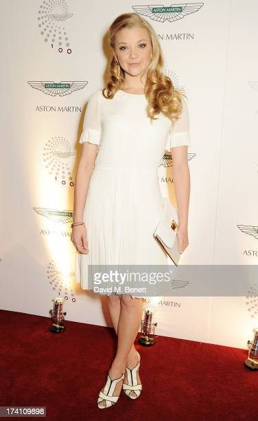 Natalie Dormer attends Aston Martin's Centenary Birthday Party celebrating 100 years as one of the world's most iconic automotive brands at...