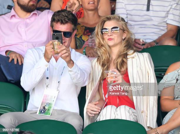 Natalie Dormer attends day one of the Wimbledon Tennis Championships at the All England Lawn Tennis and Croquet Club on July 2 2018 in London England