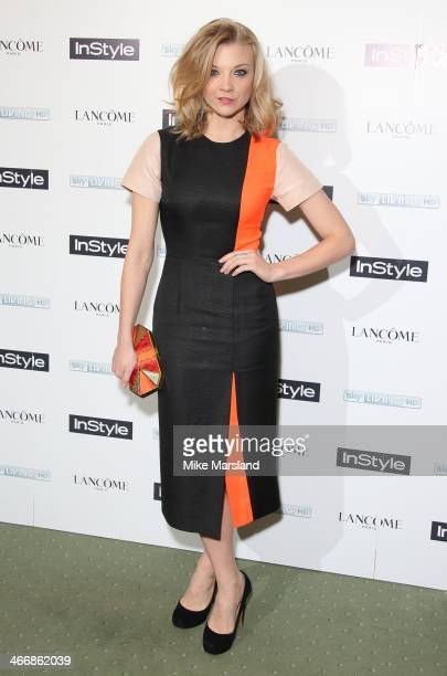 Natalie Dormer attends InStyle magazine's The Best of British Talent preBAFTA party at Dartmouth House on February 4 2014 in London England