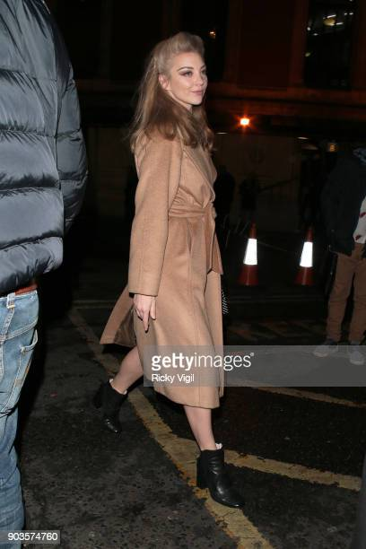 Natalie Dormer attends OVO by Cirque du Soleil press night at Royal Albert Hall on January 10 2018 in London England