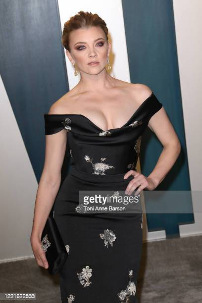 Natalie Dormer attends the 2020 Vanity Fair Oscar Party at Wallis Annenberg Center for the Performing Arts on February 09, 2020 in Beverly Hills,...