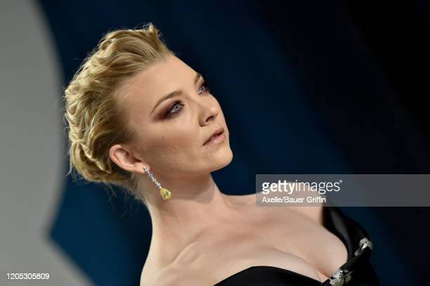 Natalie Dormer attends the 2020 Vanity Fair Oscar Party hosted by Radhika Jones at Wallis Annenberg Center for the Performing Arts on February 09,...