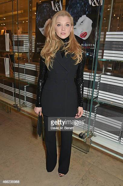 Natalie Dormer attends the Alexander McQueen Savage Beauty VIP private view at the Victoria and Albert Museum on March 14 2015 in London England