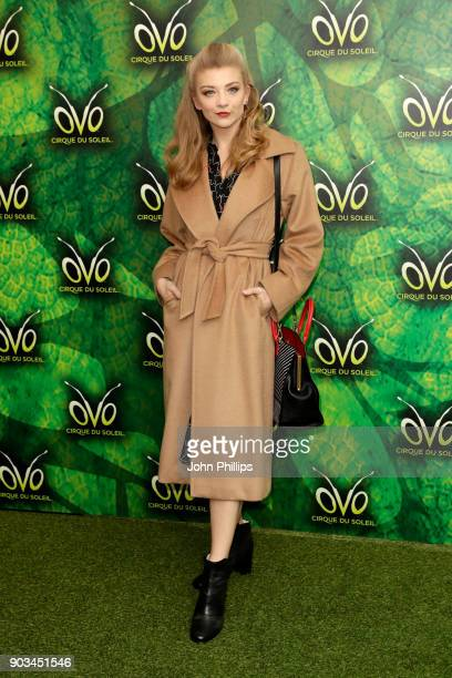 Natalie Dormer attends the Cirque du Soleil OVO premiere at Royal Albert Hall on January 10 2018 in London England