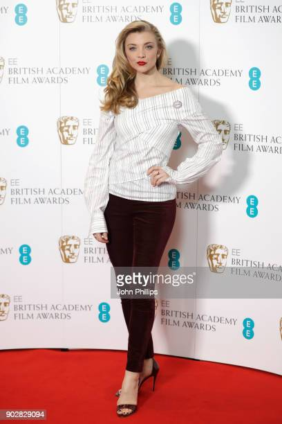 Natalie Dormer attends The EE British Academy Film Award BAFTA nominations announcement at BAFTA on January 9 2018 in London England