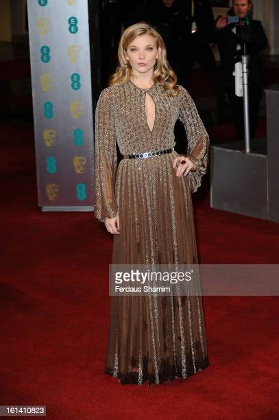 Natalie Dormer attends the EE British Academy Film Awards at The Royal Opera House on February 10 2013 in London England