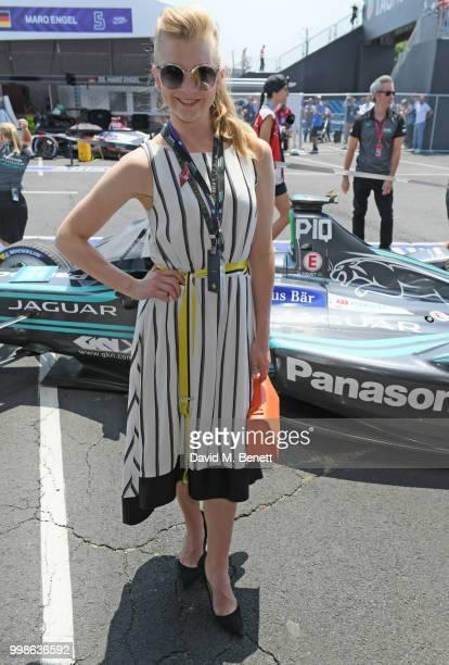 Natalie Dormer attends the Formula E 2018 Qatar Airways New York City E-Prix, the double header season finale of the 2017/18 ABB FIA Formula E...