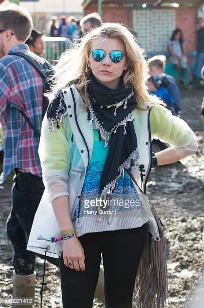 Natalie Dormer attends the Glastonbury Festival 2016 at Worthy Farm Pilton on June 25 2016 in Glastonbury England