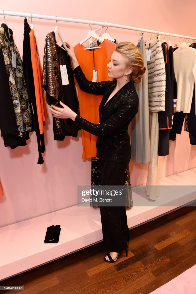 Natalie Dormer attends the launch of the Fashion Re-Told pop-up in aid of the NSPCC at 196 Sloane Street on April 12, 2018 in London, England. Fashion Re-Told, in association with Harrods and Cadogan, is open until May 13th, selling designer fashion items to raise funds for the NSPCC's work across the capital.