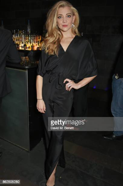 Natalie Dormer attends the press night after party for 'Venus In Fur' at Mint Leaf on October 17 2017 in London England