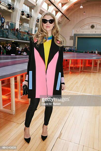 Natalie Dormer attends the Roksanda show during London Fashion Week Fall/Winter 2015/16 at Seymour Hall on February 23 2015 in London England