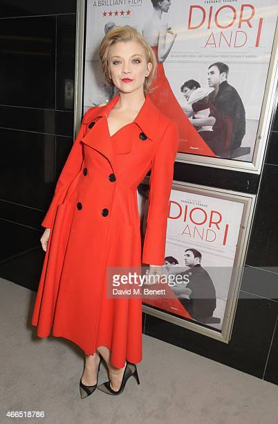 Natalie Dormer attends the UK premiere of 'Dior And I' at The Curzon Mayfair on March 16 2015 in London England