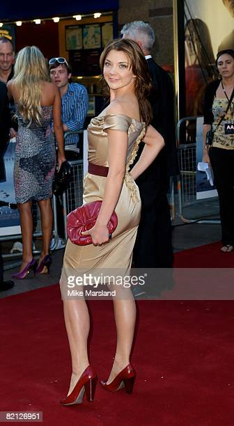 Natalie Dormer attends the UK premiere of The XFiles I Want To Believe at Empire Leicester Square on July 30 2008 in London England