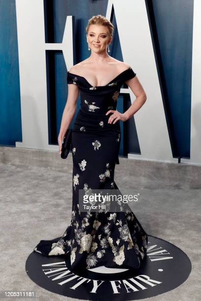 Natalie Dormer attends the Vanity Fair Oscar Party at Wallis Annenberg Center for the Performing Arts on February 09, 2020 in Beverly Hills,...