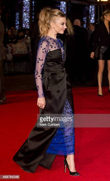Natalie Dormer attends the World Premiere of The Hunger Games Mockingjay Part 1 at Odeon Leicester Square on November 10 2014 in London England
