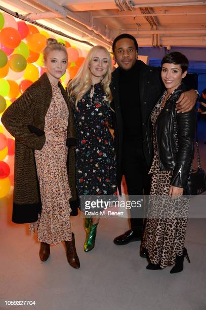 Natalie Dormer Fearne Cotton Reggie Yates and Frankie Bridge attend the Cath Kidston party celebrating the launch of their new collection in...