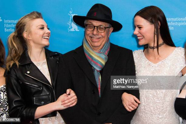 Natalie Dormer festival director Dieter Kosslick and Lola Bessis attend the 'Picnic at Hanging Rock' premiere during the 68th Berlinale International...