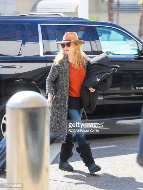 Natalie Dormer is seen at Los Angeles International Airport on March 05, 2020 in Los Angeles, California.