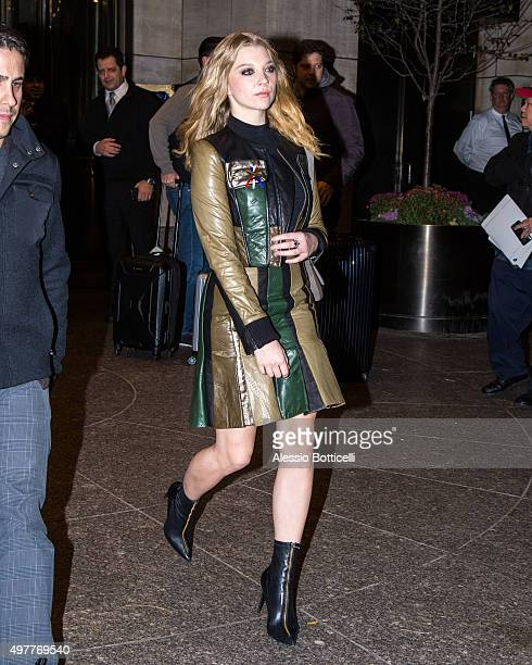 Natalie Dormer is seen leaving her hotel on November 18 2015 in New York City