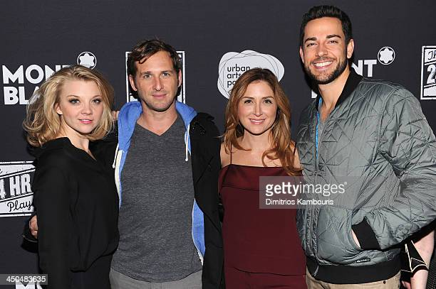 Natalie Dormer Josh Lucas Sasha Alexander and Zachary Levi attend Montblanc Presents The 13th Annual 24 Hour Plays On Broadway After Party at BB King...