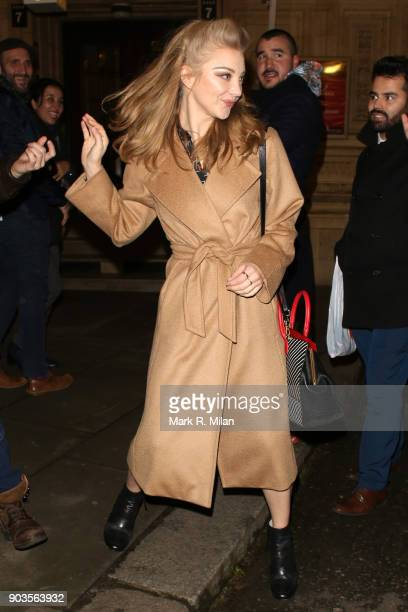 Natalie Dormer leaving the Royal Albert Hall after watching OVO Cirque du Soleil on January 10 2018 in London England