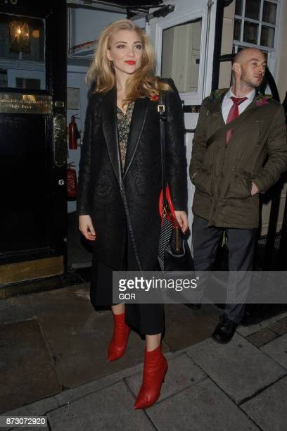 Natalie Dormer leaving the Theatre Royal Haymarket on November 11 2017 in London England