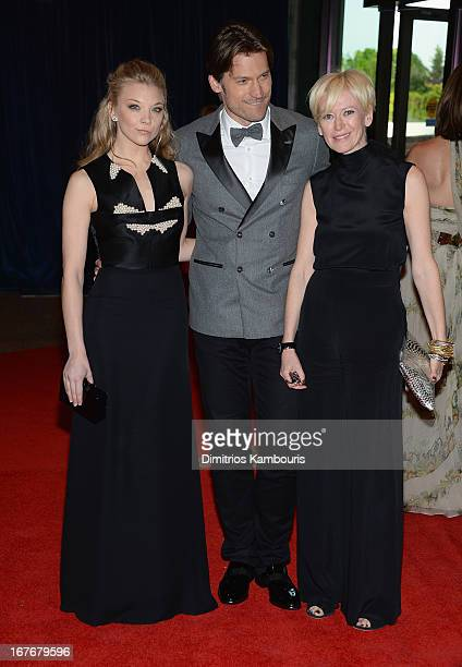 Natalie Dormer Nikolaj CosterWaldau and Joanna Coles attend the White House Correspondents' Association Dinner at the Washington Hilton on April 27...