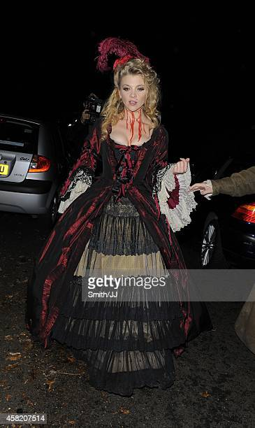 Natalie Dormer seen leaving Jonathan Ross' Halloween annual Party October 31 2014 in London England
