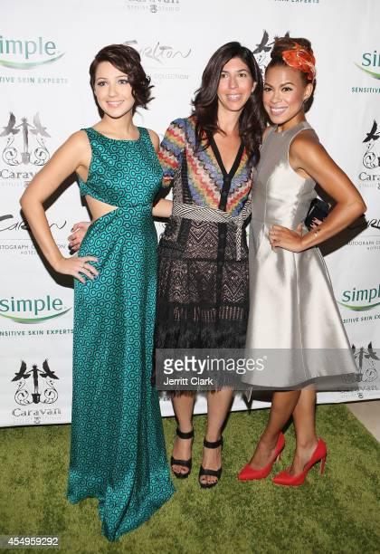 Natalie Dreyfuss Claudine DeSola and Toni Trucks attends the Simple Skincare Caravan Stylist Studio Fashion Week Event on September 7 2014 in New...