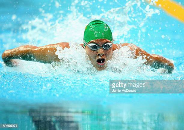Natalie Du Toit of South Africa competes in the Women's 100m Butterfly - S9 at the National Aquatics Centre on September 7, 2008 in Beijing, China.