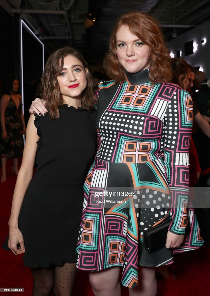 Natalie Dyer and Shannon Purser attend the Netflix FYSEE Kick-Off Event at Netflix FYSee Space on May 7, 2017 in Beverly Hills, California.