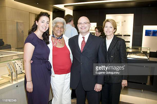 Natalie Engravido, Westcehester County Legislator Lois Bronz, Anthony Belleveau and Ann Fabrizio attend The Montblanc Boutique Opening on June 5,...